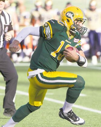 Edmonton Eskimos quarterback Mike Reilly torched the Bombers for 113 yards on the ground.