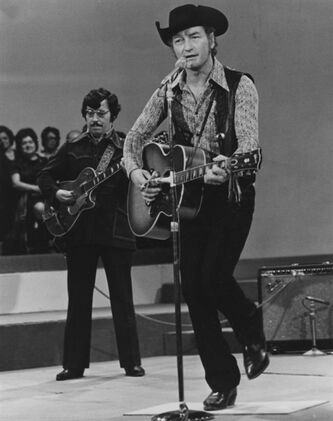 Stompin' Tom Connors performs in a 1974 handout photo. The toe-tapping footwear that helped earn Stompin' Tom Connors his notable nickname were as authentically Canadian as his heartfelt homegrown tunes. The famed boots were from Boulet, the first company to produce cowboy boots in Canada.THE CANADIAN PRESS/HO-CBC