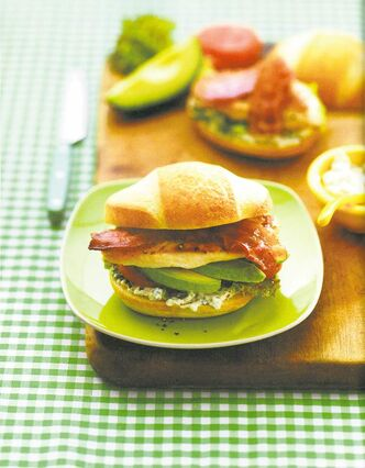 This Cobb-style chicken sandwich from Best Recipes Ever Volume 2 is plenty decadent, even without egg and onion.