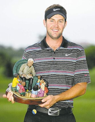 Scotland's Scott Jamieson holds one of golf's more unique trophies.