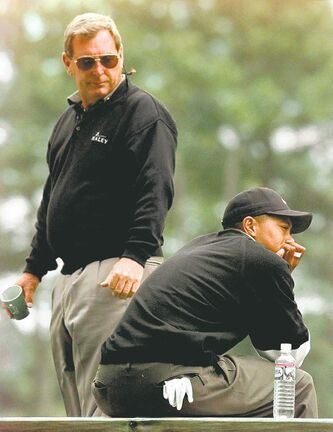 Fuzzy Zoeller (left) says his comments about Tiger Woods in 1997 are well in the past.