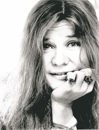 FILE - This 1970 file photo shows Janis Joplin. The Rock and Roll Hall of Fame and Museum is celebrating the brief, electrifying career of Janis Joplin with a week of events building up to a tribute concert. The hall in Cleveland calls the bluesy singer one of rock's most passionate and influential artists. Joplin, who rose to fame during San Francisco's 1967