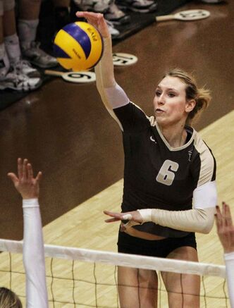 University of Manitoba Bisons hitter Rachel Cockrell came up big in Sunday's final vs. UBC.