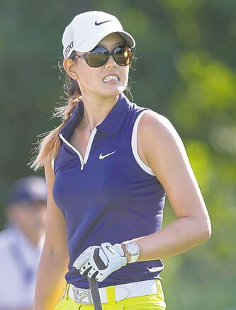 Michelle Wie fell off the pace with a six-over 78 in Round 3.