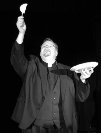 Rev. Mark Gnutel plays himself in Danny Schur's musical, The Perogy Supper Miracle.