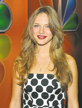 Spiridakos at NBC's prime-time preview in New York.
