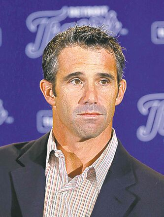 Brad Ausmus is introduced as the new  manager of the Detroit Tigers.