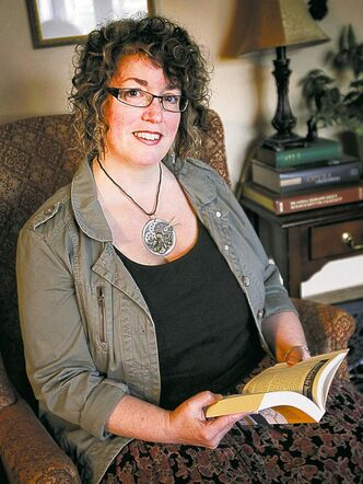 Author Karen Dudley at her home with her new book, Food for the Gods.  121009 October 09, 2012 Mike Deal / Winnipeg Free Press