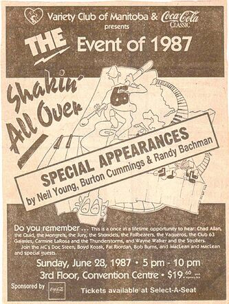 An ad for Shakin' All over.