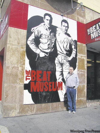 Carl Degurse outside the Beat Museum