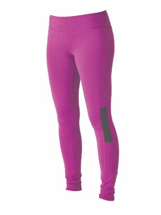 Roxy Outdoor Fitness Women's standard tight with a contoured yoga-style waistband and flatlock seams.