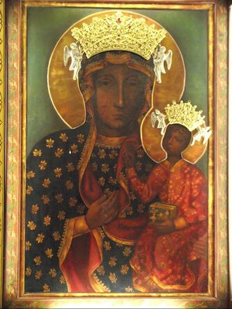 The icon of Our Lady of Czestochowa (Black Madonna) is revered and loved by the Polish people.