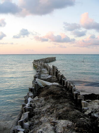 Sunset in Isla Mujeres.