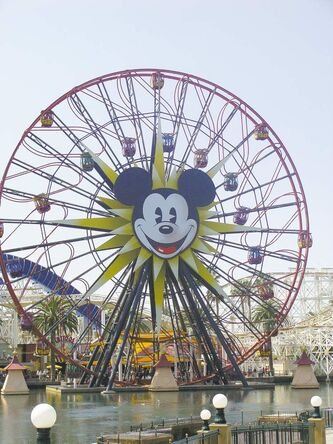 The Mickey Ferris wheel in California Adventure.