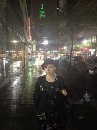 British writer and activist Laurie Penny stands on a sidewalk in New York in this undated handout photo. What began as a provincial policy spat over tuition hikes in Quebec has transformed, in just over a year, into a movement of broader student unrest now receiving some international attention. Penny is a social activist and journalist for the U.K.'s Independent and Guardian newspapers who supports and writes about the international Occupy movement. THE CANADIAN PRESS/HO