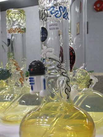 A bong was seized featuring the likeness of Star Wars droid R2-D2.