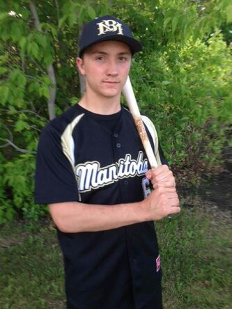 Riley Poole, 17, of Oak Bluff, is one of two local baseball players named to Manitoba's Youth Selects U17 team competing in the Baseball Canada Cup.
