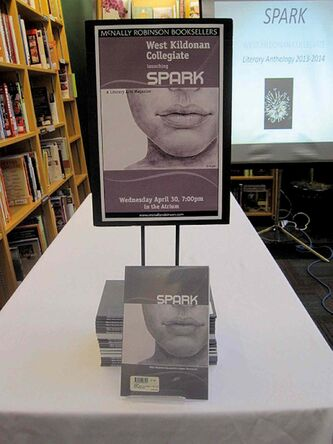 West Kildonan Collegiate launched Spark, an anthology of student writing, at McNally Robinson Booksellers in April.