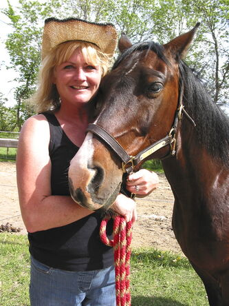 Poco-Razz Farms boarder Linda Checkley with her horse, Levi