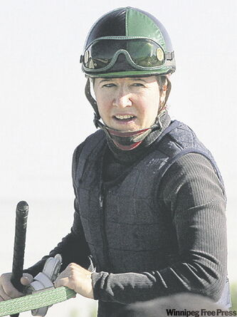 Vicky Baze has been a standout rider at Assiniboia Downs this racing season.