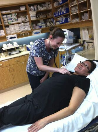 Candice Stonebridge, a nurse-practitioner student at the University of Manitoba, works at Gillam Hospital this summer.