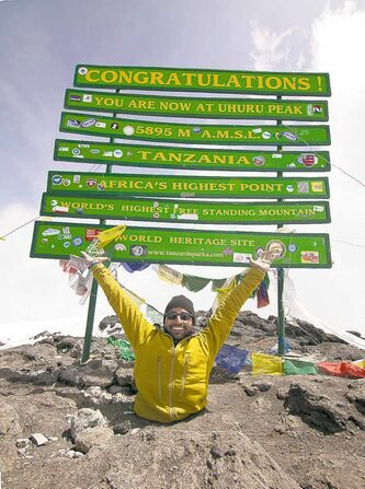 Spencer West, who lost both his legs, reached the top of Africa's Mount Kilimanjaro.