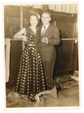 <p>supplied</p><p>Bernice Marmel and her ex-husband Max Marmel on New Year's Eve in 1948.</p>