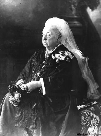 Queen Victoria at the time of her diamond jubilee in 1897.