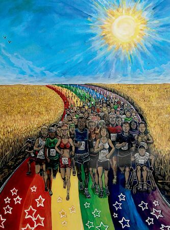 The Journey by Ryan Smoluk is just one of many works, from paintings to sculptures, for sale at Upbeat Artworks.