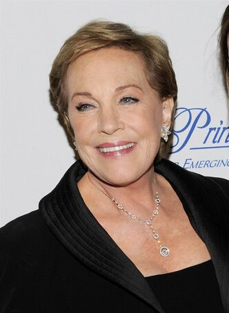 FILE - This Nov. 1, 2011 file photo shows Julie Andrews at the Princess Grace Foundation Awards gala in New York. The Oscar and Tony Award-winning actress said that a botched operation to remove non-cancerous throat nodules in 1997 hasn't gotten better. It has permanently limited her range and her ability to hold notes.
