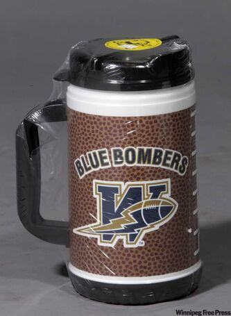 Blue Bombers logo thermal mug