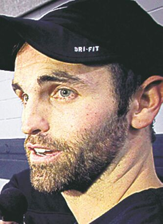 Winnipeg Jets' Andrew Ladd (16) answers questions regarding the most recent porposal put forward by the league after a training session at the MTS IcePlex Wednesday morning. 121017 - Wednesday, October 17, 2012 -  (MIKE DEAL / WINNIPEG FREE PRESS)