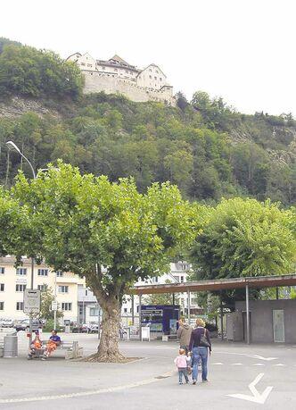 Liechtenstein's capital, Vaduz, with the home of Liechtenstein's royal family, Castle Vaduz, in background.