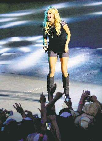 Carrie Underwood's outstanding, no-frills set was a definite Countryfest highlight Sunday.