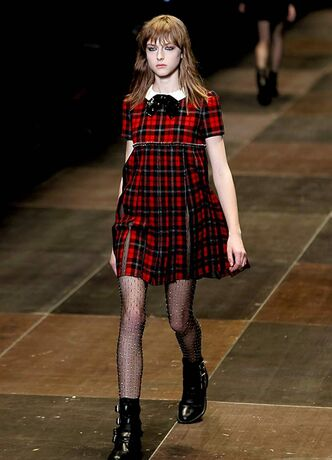 Grunge styles on the runway.