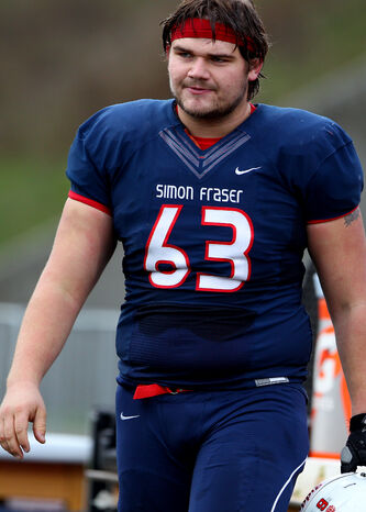 Simon Fraser O-lineman Matthias Goossen is expected to be able to play immediately in his rookie season.