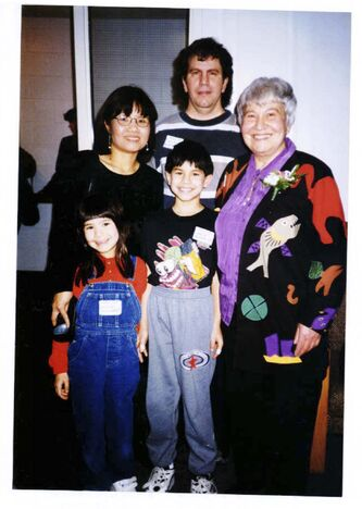 <p>supplied</p><p>Marmel and her son Lawrence, his wife Tam and her grandchildren, Allison Marmel and Shane Marmel in 1998.</p>