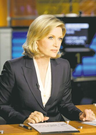 Diane Sawyer anchors ABC's World News With Diane Sawyer and wears a suit jacket.