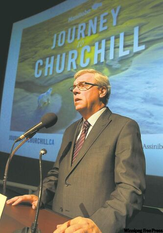 Premier Greg Selinger at the announcement of the Journey to Churchill exhibit last March. .