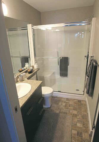 Two-bedroom units feature an ensuite bathroom off the master suite.