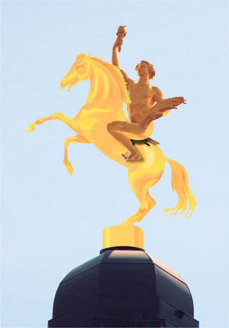 If Goldencents wins the Kentucky Derby, should the Golden Boy statue get an upgrade?
