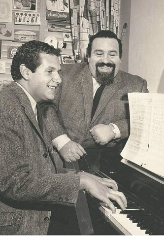 Mort Shuman, left, and Doc Pomus.