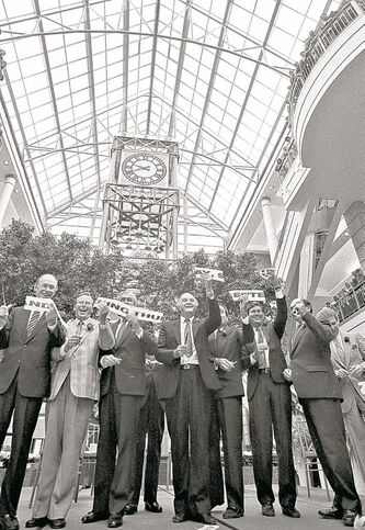 Official opening of Winnipeg�s Portage Place on September 17 1987.