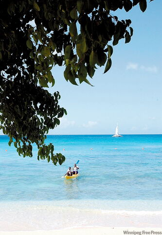 There's lots of sun, sand and sea for visitors to Barbados to enjoy.