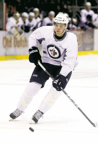 TREVOR HAGAN/WINNIPEG FREE PRESS archives Left-winger Adam Lowry showed promise at last year's prospect camp.