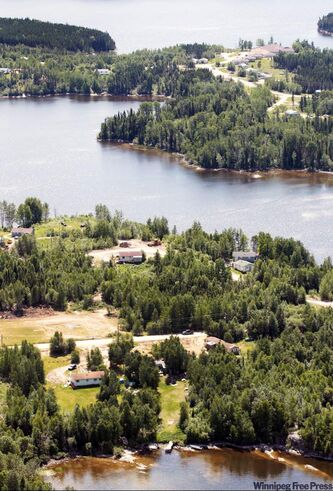 The only way to reach St. Theresa Point First Nation in summer is by air.