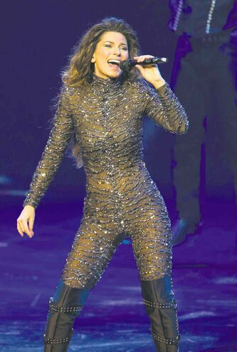 'I guess  I'm in love with the experience of writing again' -- Shania Twain, on her resurgence after an eight-year absence from performing