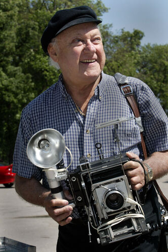 'Barney Charach and his camera were fixtures across decades of University of Manitoba convocations. He presided over these sessions with humour, flair, an eagle eye and an indomitable energy and spirit, even as he moved into an age when most of his peers were enjoying retirement' — University of Manitoba marketing and communications director John Danakas