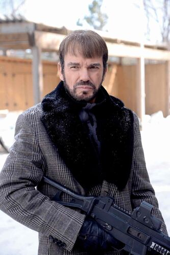 Billy Bob Thornton as Lorne Malvo in Fargo.