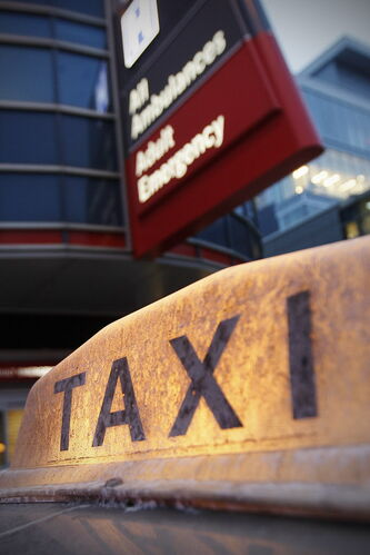 A new policy for hospital patients going home by taxicab is scheduled to take effect May 1.